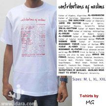 T-Shirt : Contributions of Muslims (White)
