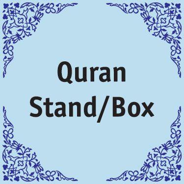 Quran Stands / Box