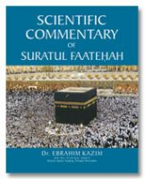 Scientific Commentary of Suratul Faatehah