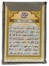 SURAH CARDS - 8 Surah Cards | Surah Yaseen, Sajdah, Rehman, Waqiyah, Mulk, Muzammil, Fatah, Ayatal Kursi, Four Qul, 99 Names Of Allah